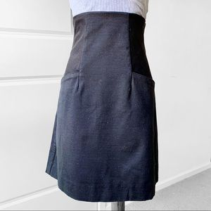 CALVIN KLEIN High Waist Skirt in Black